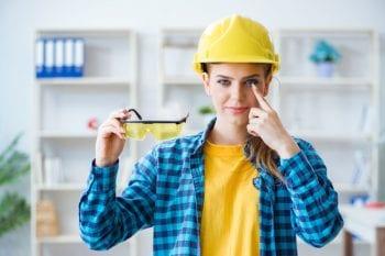 job-related eye injury